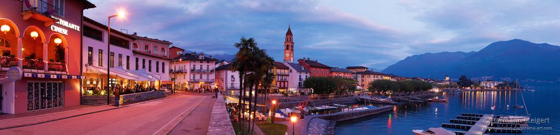 Ascona - Seepromenade am Abend