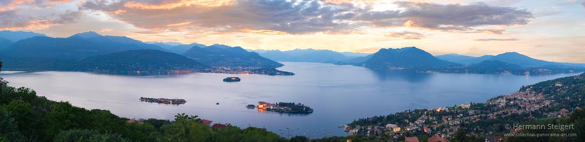 Blick auf Isola Bella am Abend