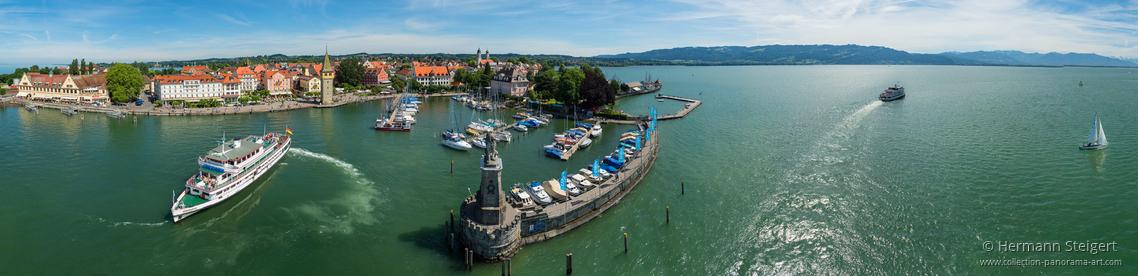 Blick auf den Lindauer Hafen