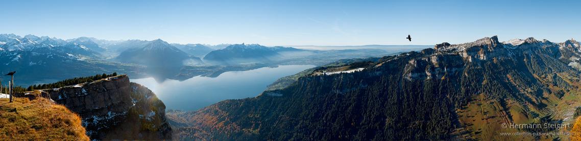 Blick vom Niederhorn auf den Thunersee