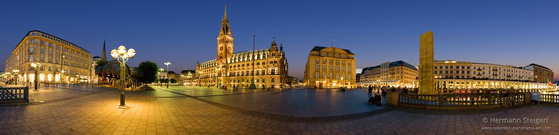 Hamburger Rathausmarkt und Alsterarkaden