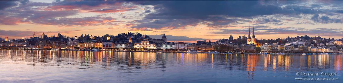 Luzern - Seepromenade Abendstimmung