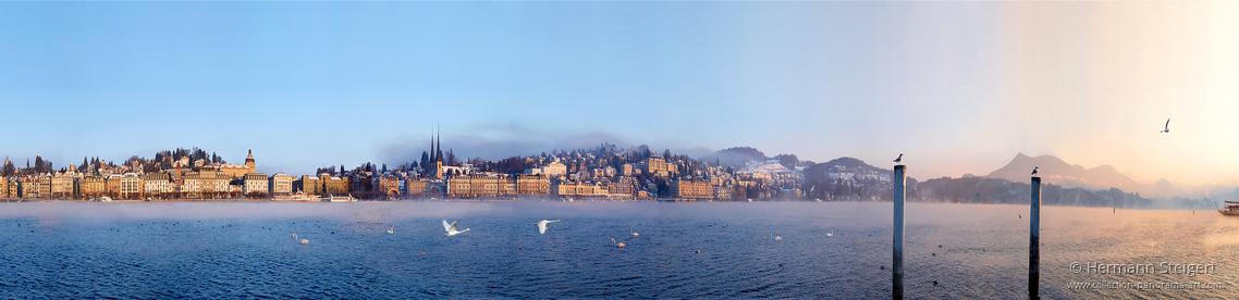 Luzern - Seepromenade Morgenstimmung