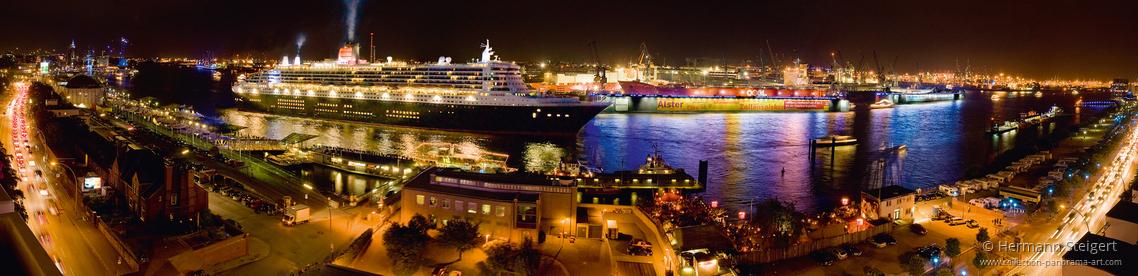 Queen Mary 2, die Königin der Meere im Hamburger Hafen
