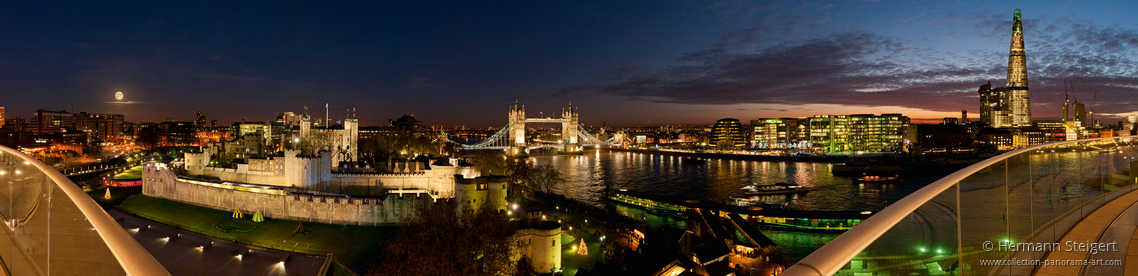 The Tower of London, the Tower Bridge and the Shard at Night