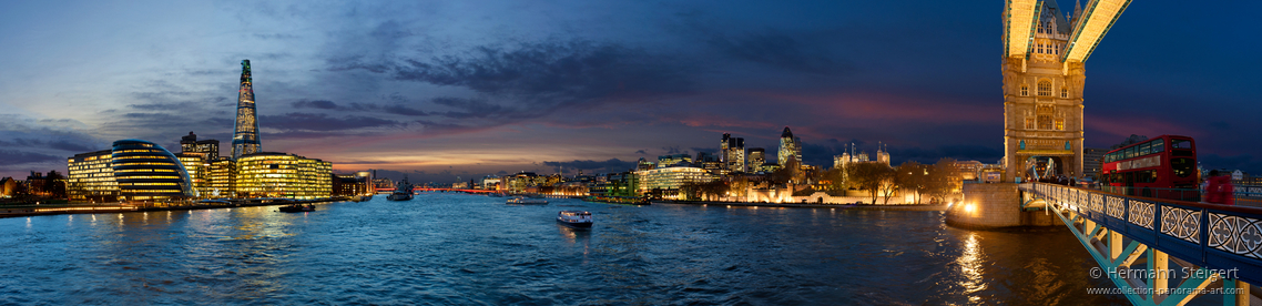 View of the Thames from Tower Bridge