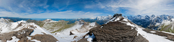 360 Grad Panorama Blick vom Schilthorn