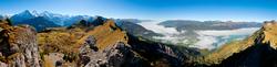 360 Grad Panorama Blick von der Schynigge Platte