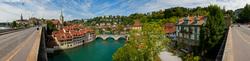 Blick auf die Berner Altstadt und die Aare