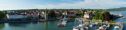 Blick vom Leuchtturm auf Lindau