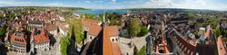 Blick vom Münster auf Konstanz und den Bodensee