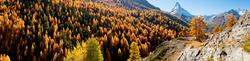 Herbststimmung mit Blick auf das Matterhorn